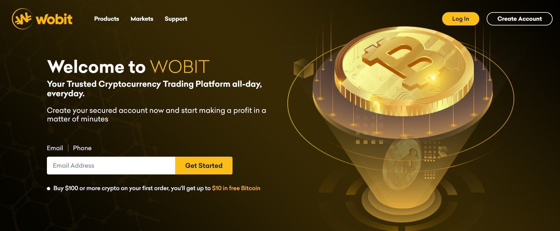 Wobit website